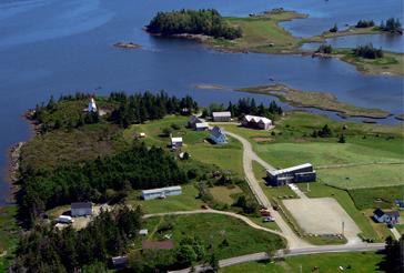 acadian village aerial view