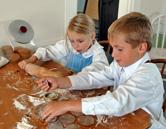 Préparation de biscuits à la mélasse