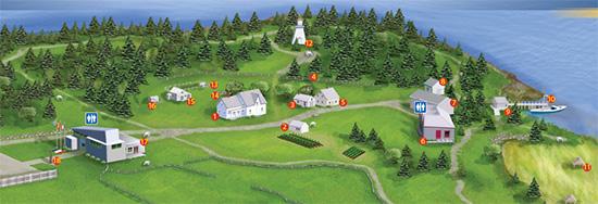 Acadian Village Sitemap